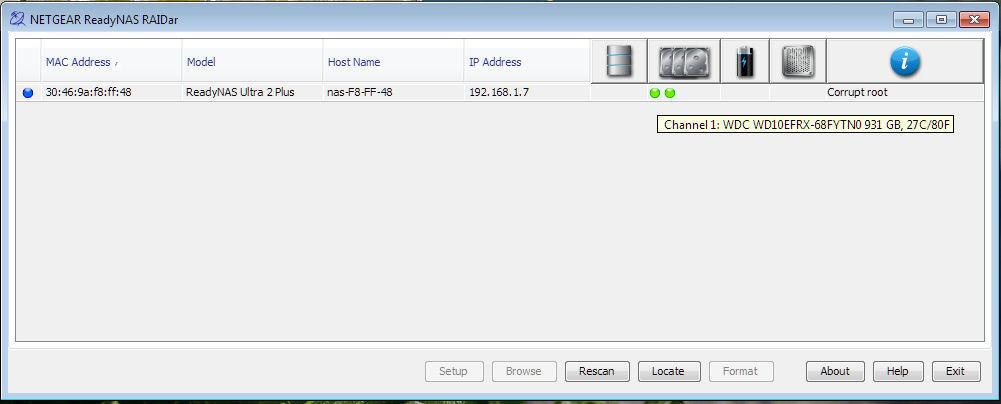 ReadyNAS Ultra 6 SNMP addon - eehelp com