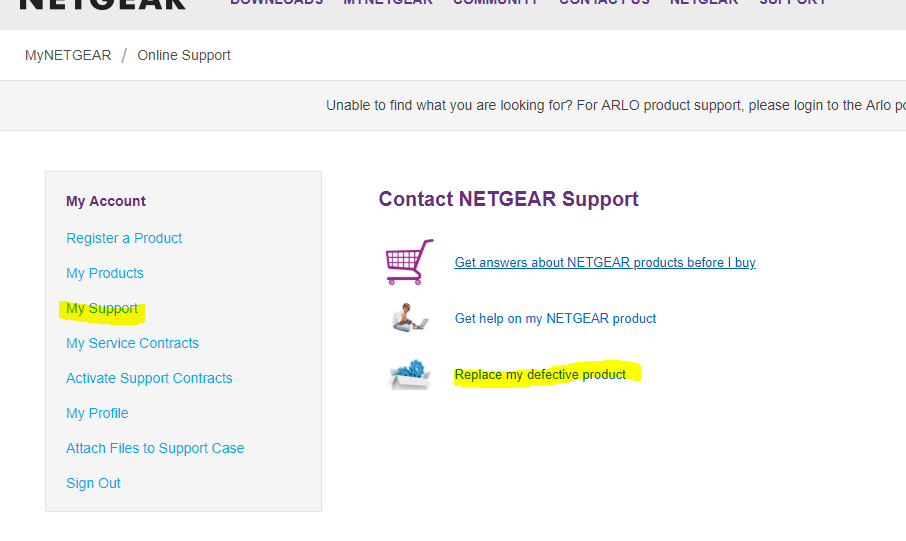 Netgear My Support - Replace my defective product.PNG
