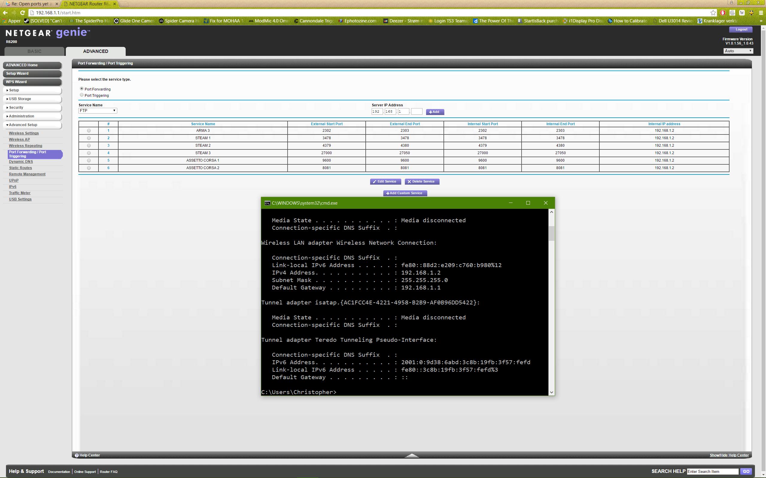 Solved: Open ports yet again - Netgear R6200 - NETGEAR Communities