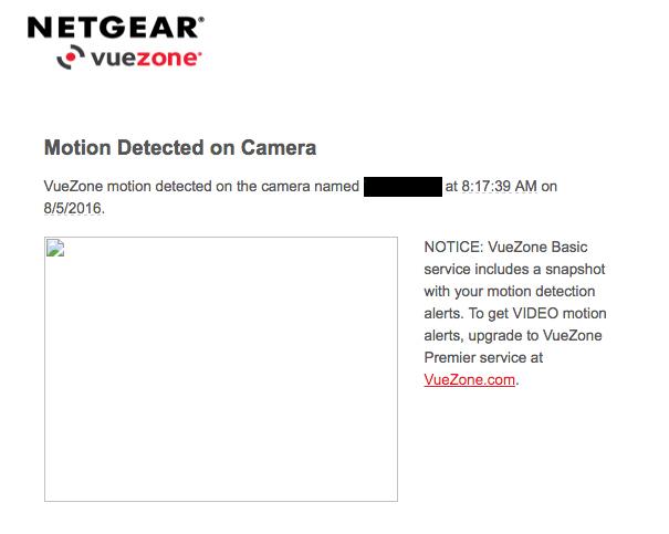 vuezone snapshot email no image - NETGEAR Communities