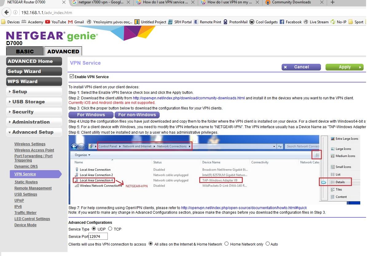 Netgear nighthawk ac1900 vpn client